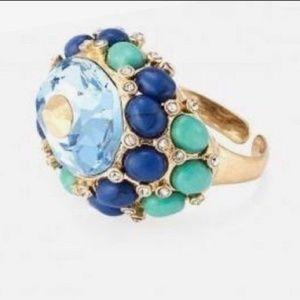 Stella&Dot Sky Blue Crystal•Cobalt•Turquoise Ring